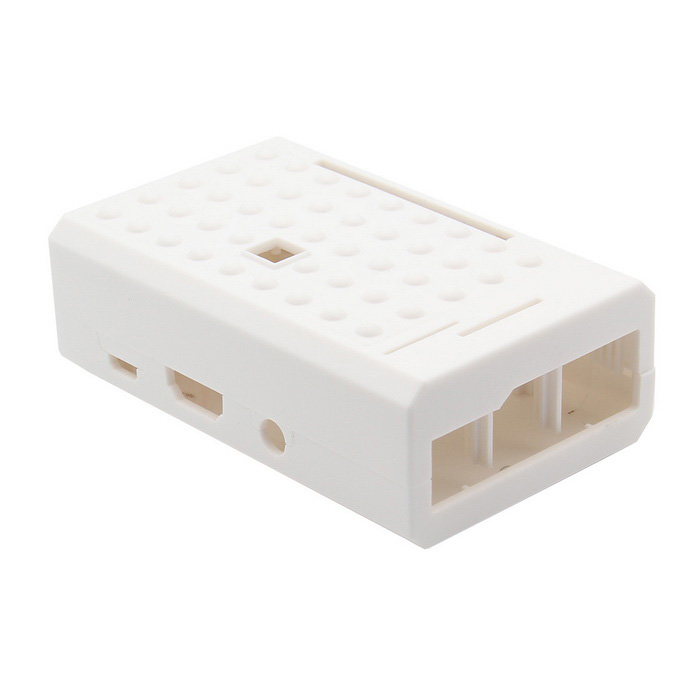 Geekworm Logo Type ABS Case for Raspberry Pi 3 Model B Board - White