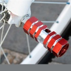 Mountain Bike Hexagonal Foot Cone Pedals - Red + Silver (Pair)