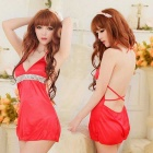E210 Woman's Fashionable Sexy Lingerie Suit - Red