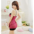 D405 Woman's Fashionable Sexy Lingerie Suit - Dark Pink