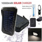 Buy Solar Power Bank LED Indicator, + Flashlight Lighting Compass Light Bag