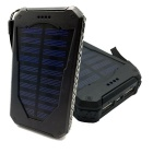 "SUNGZU ""10000mAh"" Dual USB Solar Power Bank + Compass - Black"