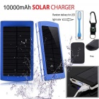 "SUNGZU ""10000mAh"" Dual USB Solar Power Bank + Compass - Blue"