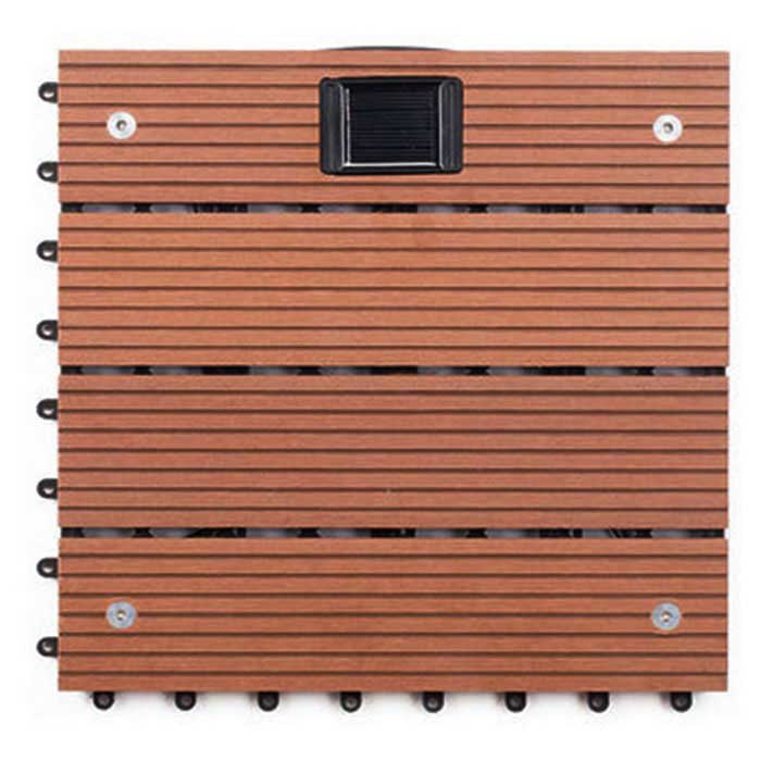 Outdoor Garden Balcony Wood Plastic Composite Flooring Tile - Red