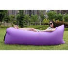 Lazy Beach Inflation-Free Bed Cushion Sleeping Bag - Purple