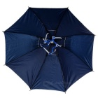 Foldable Outdoor Camping Sun Umbrella Hat - Blue + Silvery Grey