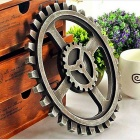 European Style Retro Wooden Gear Wall Decoration - Bronze