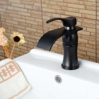Widespread Single Handle One Hole ORB Bathroom Sink Faucet - Black