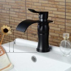 Fashion Single Handle One Hole Oil-rubbed Bronze Bathroom Sink Faucet