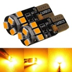 MZ T10 3W 2835 9SMD CANBUS LED Car Side Turn Signals Lights - Amber