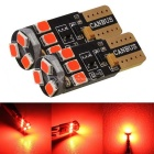 MZ T10 3W 2835 9SMD CANBUS LED Car Door Lights Red Light (12~30V 2pcs)
