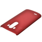 Protective PC Back Case for LG G3 - Wine Red