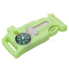 Glow-in-the-Dark Outdoor Buckle Multi-Tool - Fluorescent Green (2PCS)