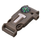 Survival Outdoor Buckle multi-ferramenta w / Survival Whistle / Flint / raspador / Compass