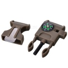 Outdoor Survival Buckle Multi-Tool for Camping, Mountaineering - Khaki