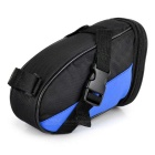 B-SOUL Outdoor Cycling Oxford Bike Zippered Saddle Bag - Black