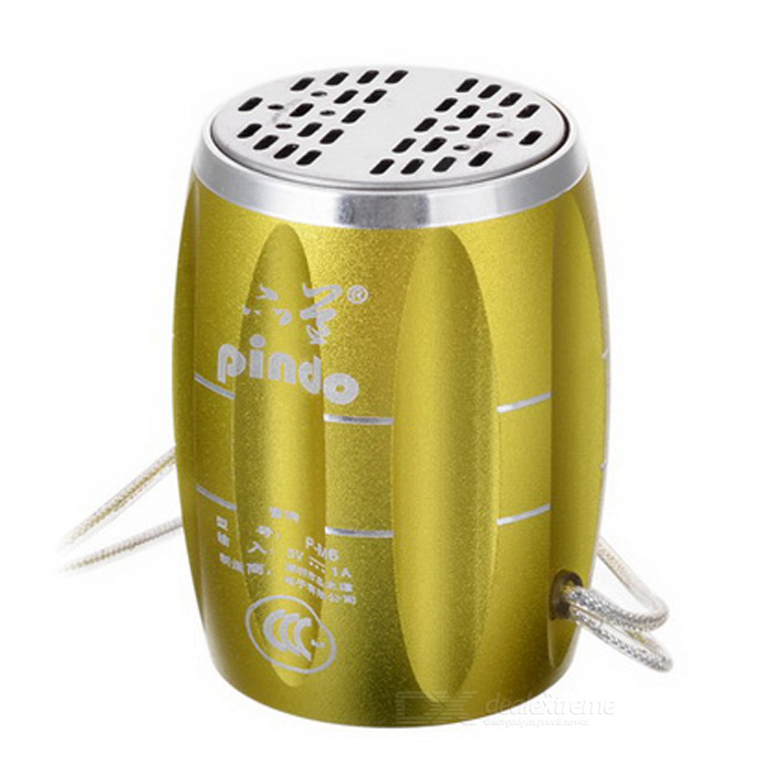 PINDO M6 bicicleta Mini Speaker w / TF, Rádio FM - Golden