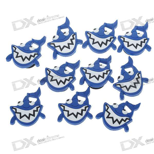 Shark Jibbitz Shoes Decoration for Crocs Shoes (10-Pack)