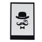 Hat-Prince Patterned Removable Skin Sticker for IPHONE - White + Black
