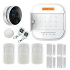 LCD Screen Smartphone App Control GSM WiFi Smart Alarm System - White