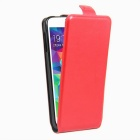 Retro Style Up-Down Flip-Open PU Case for Samsung GALAXY S5 - Red