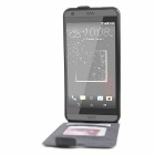 Retro Style Up-Down Flip-Open PU Case for HTC 530 / 630 - Black