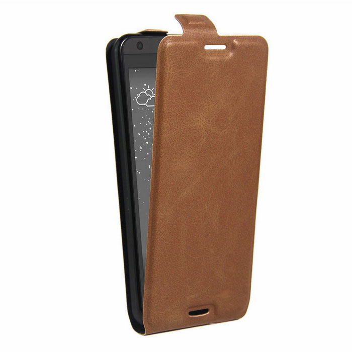 Retro Style Up-Down Flip-Open PU Case for HTC 530 / 630 - BrownLeather Cases<br>Form  ColorBrownModel001MaterialPUQuantity1 DX.PCM.Model.AttributeModel.UnitShade Of ColorBrownCompatible ModelsHTC 530/630FeaturesAnti-slip,Dust-proof,Shock-proof,Abrasion resistance,Easy-to-removePacking List1 * Case<br>