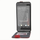 Retro Style Up-Down Flip-Open PU Case for HTC 530 / 630 - Red