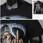 J1038 Men's 3D Printing Round-Neck Short-Sleeve T-shirt - Black