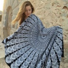 Summer Beach Towel / Shawl - Black