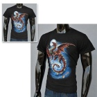 J1050 Men's 3D Printing Round-Neck Short-Sleeve T-shirt - Black