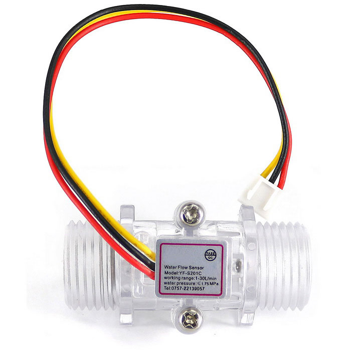 G1/2 Plastic Water Flow Sensor Turbine Hall Flowmeter for Arduino