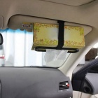 ZIQIAO Multi-functional Car Sun Visor Tissue Fixation - Black