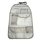 ZIQIAO Portable Waterproof Vehicle Seatback Bag - Gray