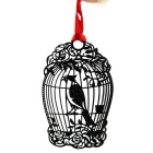 Stainless Steel Exquisite Hollow Bird Cage Bookmark - Black