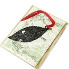 Stainless Steel Exquisite Hollow Leave Card Bookmark - Black