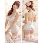 FanYang 852 Women's Fashionable Sexy Lingerie Suit - White