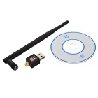 Mini USB 150Mbps Wireless Network Card - Black