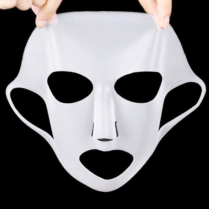 Silicone Facial Skin Care Beautifying Face Mask Cover - White