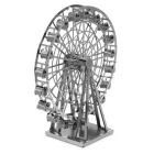 3D Three-Dimensional DIY Assembly Model Wheel - Silver.