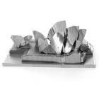 3D Three-Dimensional DIY Assembly Model Sydney Opera House - Silver