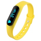 "Hengjiaan 0.69"" OLED Buletooth Bracelet Heart Rate Monitor - Yellow"