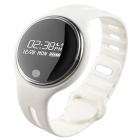 E07 Bluetooth Sports Smart Touch Screen Wristband Bracelet - White