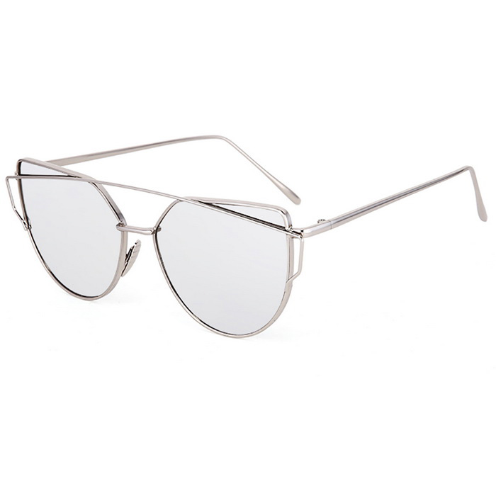 SENLAN UV400 Protection  Fashionable Sunglasses - Silver