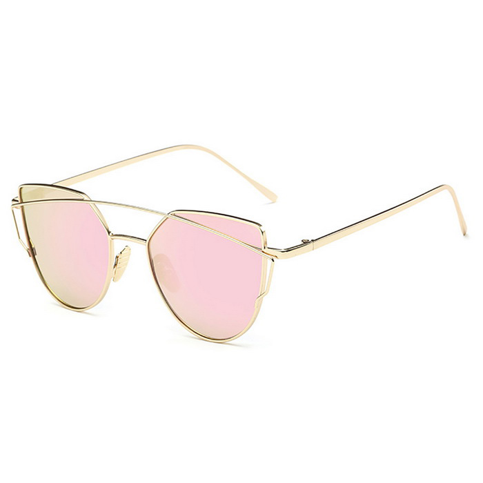 SENLAN UV400 Protection  Fashionable Sunglasses - Gold + Pink