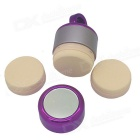 Show Charm 3D Electric Vibrating Makeup Puff Cosmetic Tool - Purple