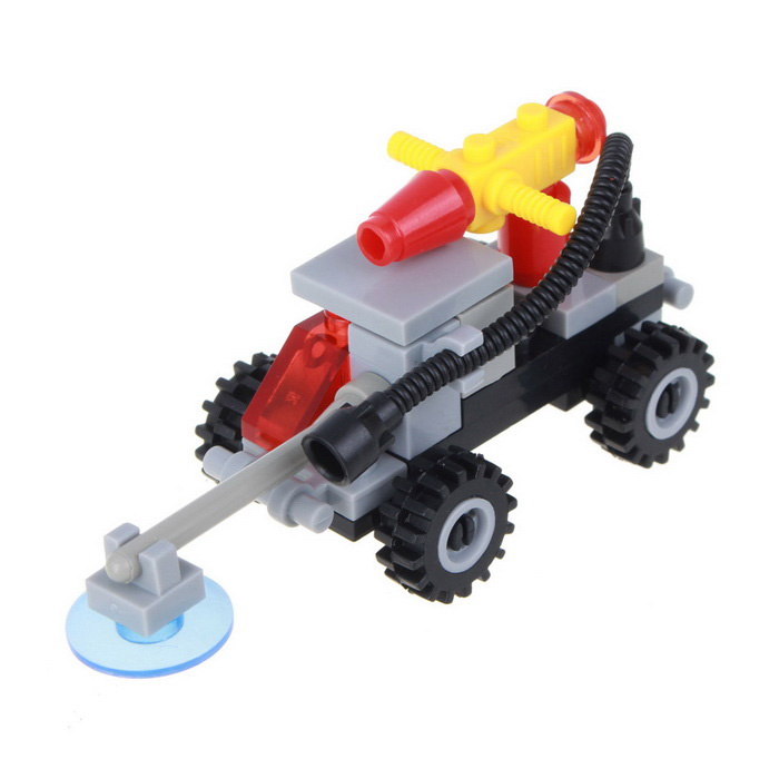 Children's Puzzle Assembly Educational Toy Mine Detection Vehicle