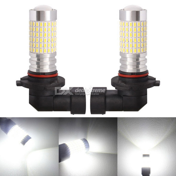 MZ 9006 360 degree LED Car Fog Lights Cold White 3014-144SMD DC 12~24V