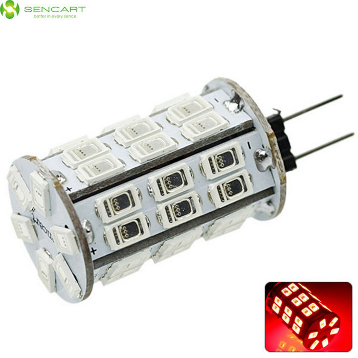 SENCART G4 MR11 8W 800lm 42-SMD 5630 LED Red Light Bulb (DC 12V)