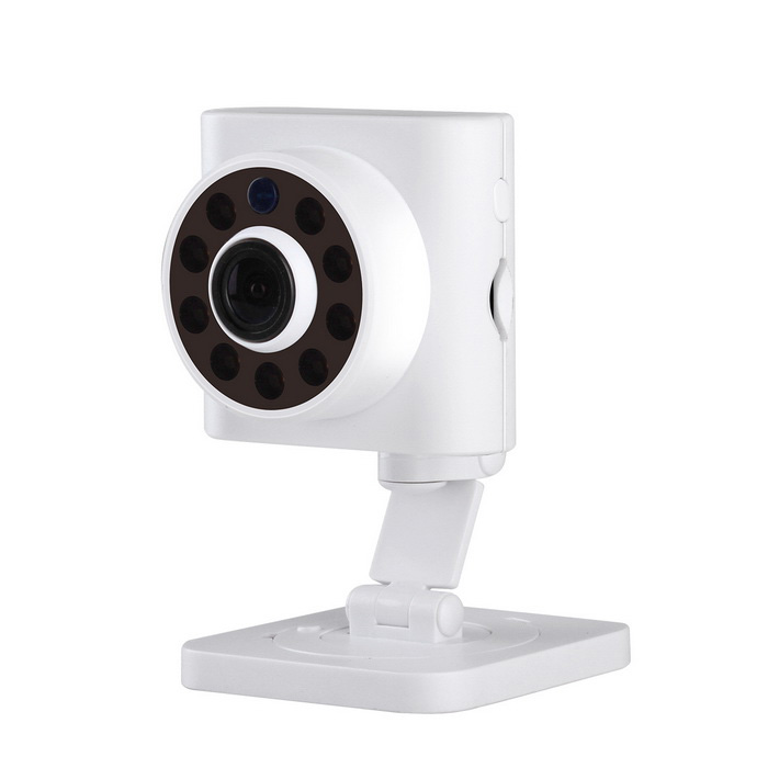 ESCAM Wall-E QF601 720HP 2.8mm mini cámara Wi-Fi IP - Blanco (AU Plug)